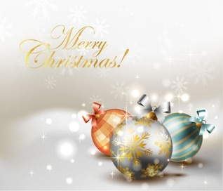 Elegant christmas background vector graphic