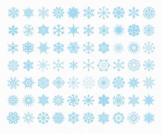 big set of vector snowflakes