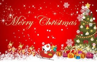 christmas scene background vector illustration