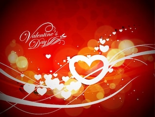abstract valentine& ;s day vector graphic