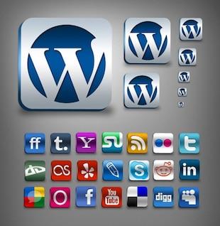 incredible social media icons set psd png