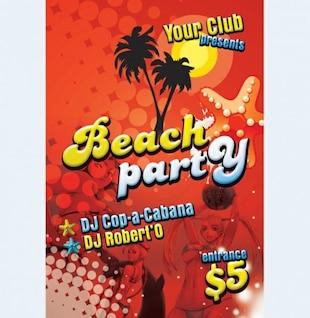 print ready beach party flyer psd