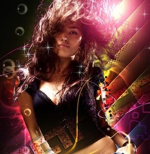 photoshop abstract dancing girl