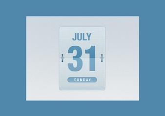 email date flipper calendar psd