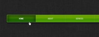 fine texture green navigation menu psd