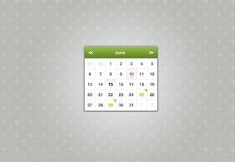 small sexy month calendar widget psd