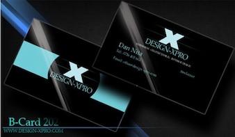 blue black business card template psd