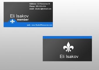 sleek dark business card template set psd