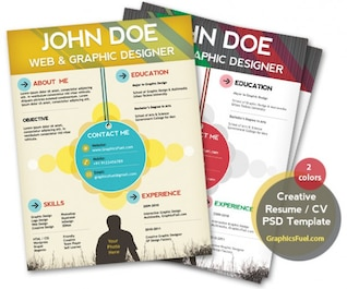 creative resume   cv psd template  cmyk print ready