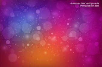 Multi colored background with bubbles