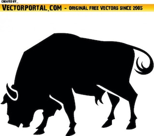 Lateral bull silhouette
