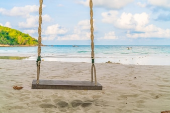 A swing on the beach
