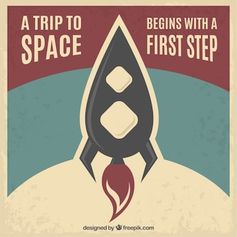 A trip to space poster