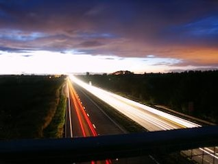 A19 on an early summers evening
