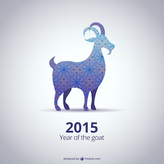 Abstract 2015 Year of the Goat vector