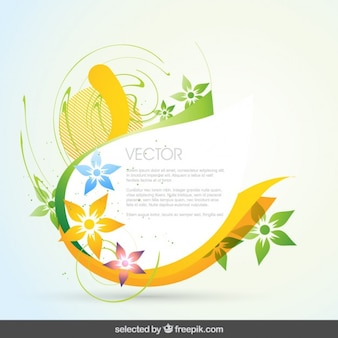 Abstract and floral background