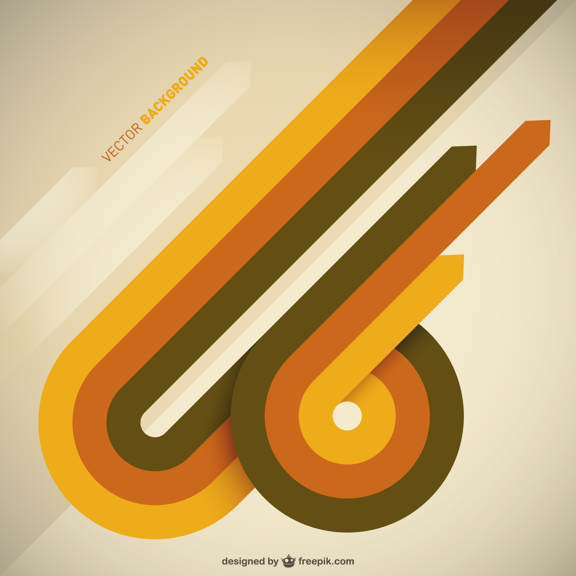 Abstract arrows retro background