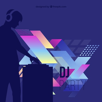 Abstract artistic DJ
