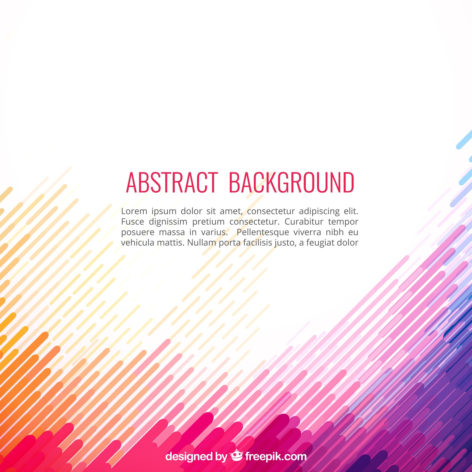 Abstract background in colorful style
