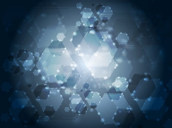 Abstract background made by glow hexagons