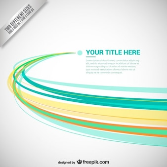 Abstract background with color lines