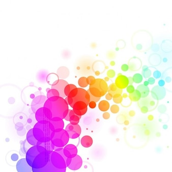 Abstract background with colorful dots.