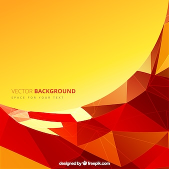 Abstract background with red polygons