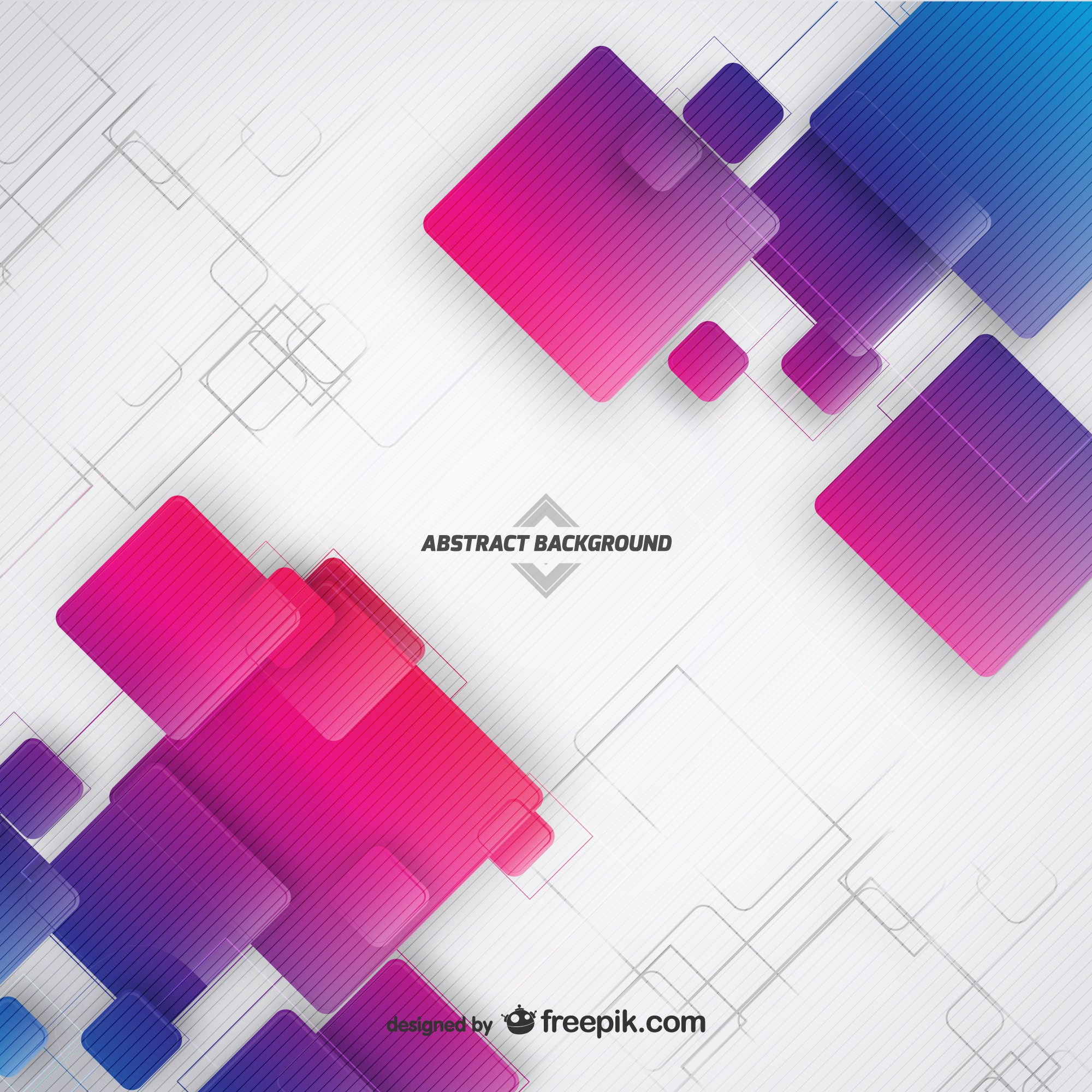 Abstract background with squares vector