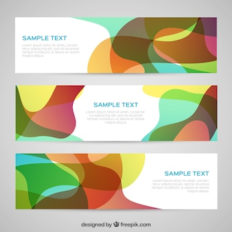 Abstract banners in colorful style