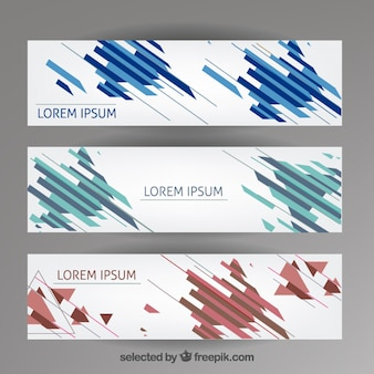 Abstract banners template
