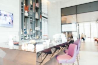 Abstract blur and defocused luxury hotel interior