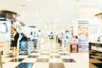 Abstract blur and defocused shopping mall center of department store