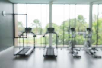 Abstract blur fitness gym and equipment