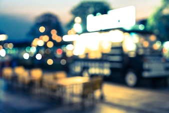 Abstract blur food truck