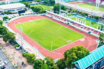 Abstract blur football stadium