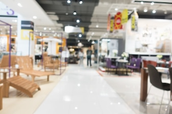 Abstract blur furniture shop and store interior