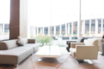 Abstract blur hotel interior