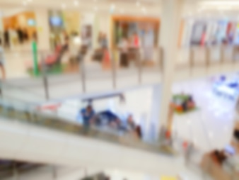 Abstract blur people in shopping center .