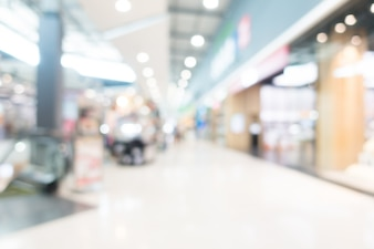 Abstract blur shopping mall interior