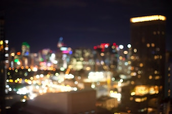 Abstract blurry background of cityscape on top view.
