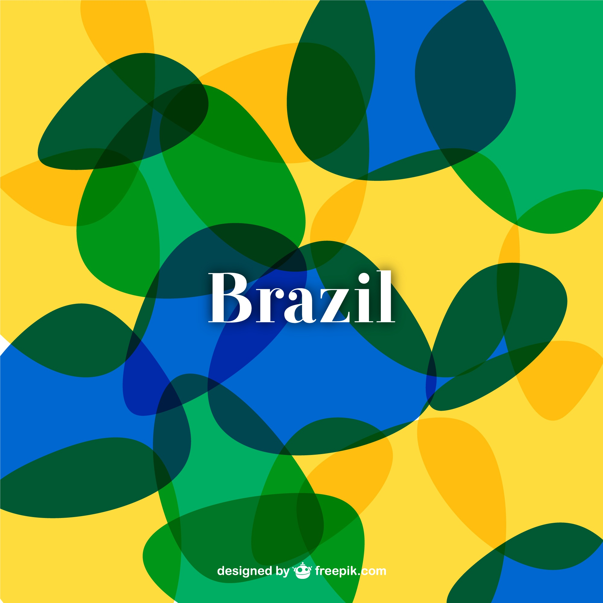 Abstract Brazil soccer background