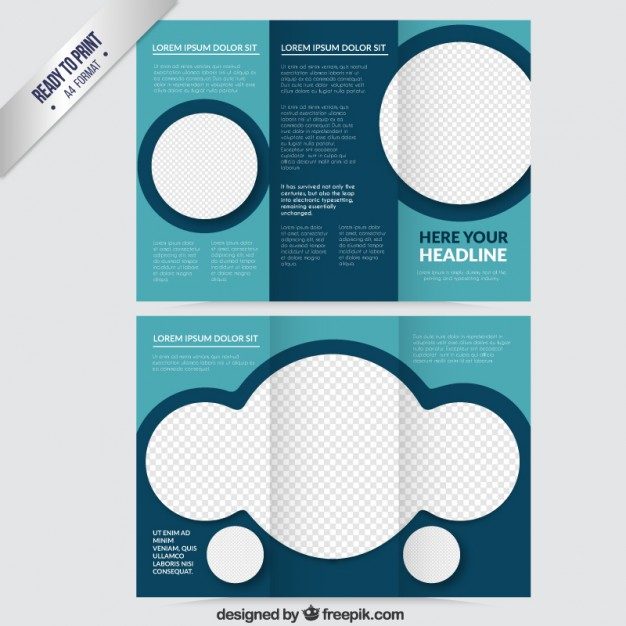 Abstract brochure in blue tones