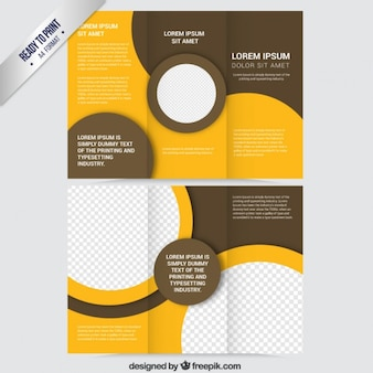 Abstract brochure in orange and brown tones