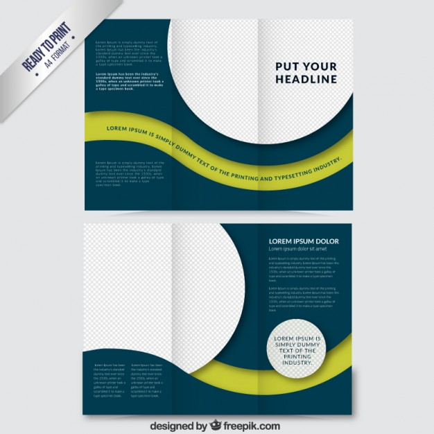 Abstract brochure wirth circles