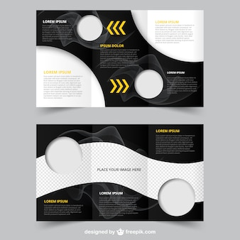 Abstract brochure with circles