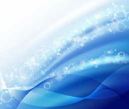 abstract bubble wave blue background