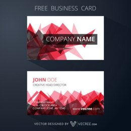 Abstract business card with red shapes