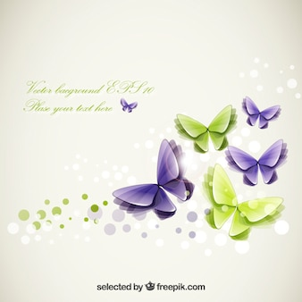 Abstract butterflies template