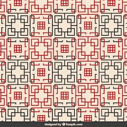 Abstract chinese geometric pattern