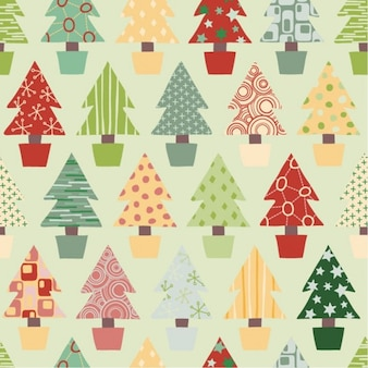 abstract christmas tree seamless background vector